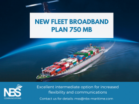 New Inmarsat Fleet Broadband plan 750 MB