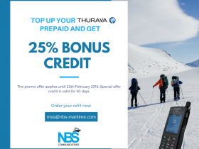 Top up your Thuraya Prepaid SIM and get 25% bonus credit